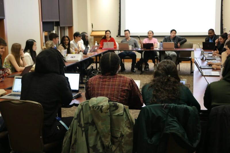 COURTESY OF CLAIRE GOUDREAU SGA tabled two bills intended to promote its transparency.
