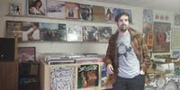 COURTESY OF ANNA GORDON Wax Atlas owner Andy Phillips hopes to help customers find new music.