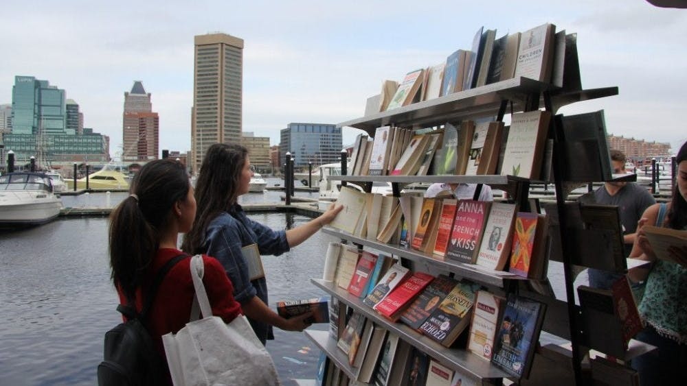 FILE PHOTO The annual Baltimore Book Festival draws hundreds of visitors each September. Above, the Book Festival in 2016.