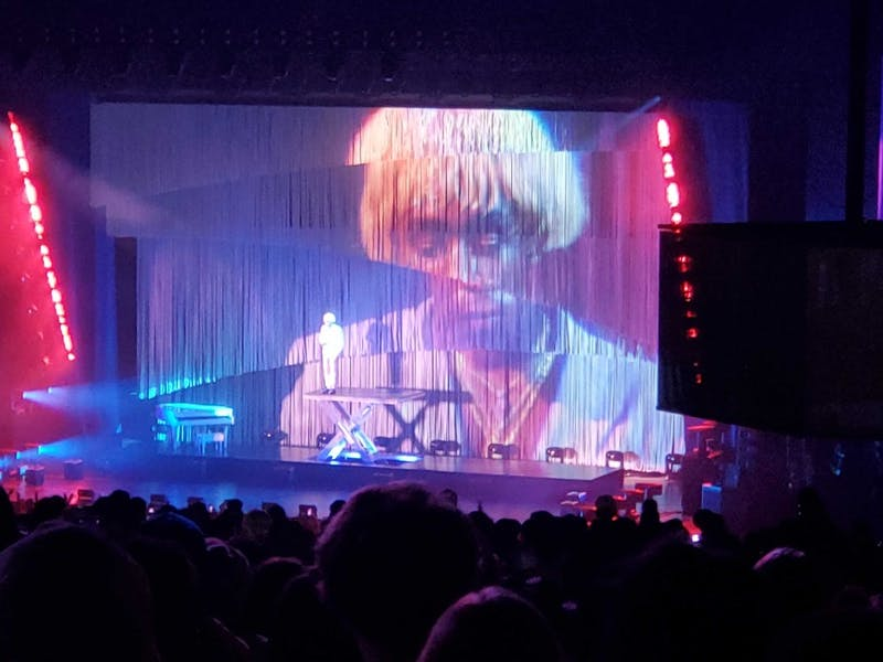 Courtesy of Sam Farrar  Tyler gave a riveting performance replete with colorful visuals and displays of high fashion.