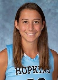 HOPKINSSPORTS.COM Junior midfielder Katie McErlean.