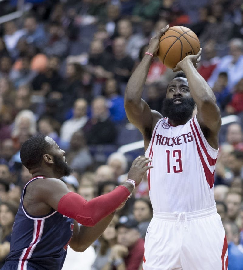 Keith Allison/CC BY-SA 2.0 James Harden has established himself as the frontrunner for MVP.