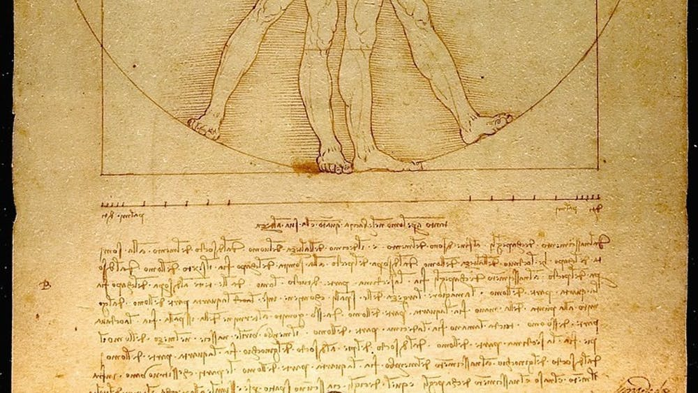 LUC VIATOUR/CC By 2.0 Like the MSH major, da Vinci's Vitruvian man combines science and art.