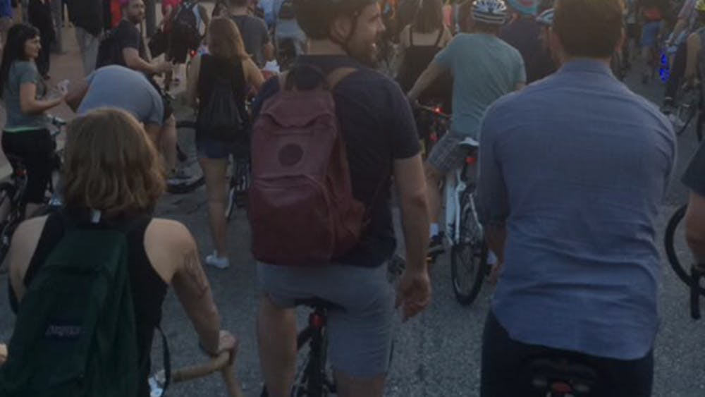 COURTESY OF HANNAH MELTON Bike Party brings Baltimoreans from all over the city all through the city.