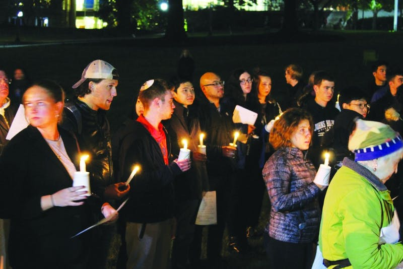 Religious leaders urged those who attended the vigil at the Beach on Monday to stand in solidarity with other minority groups targeted by hate crimes.