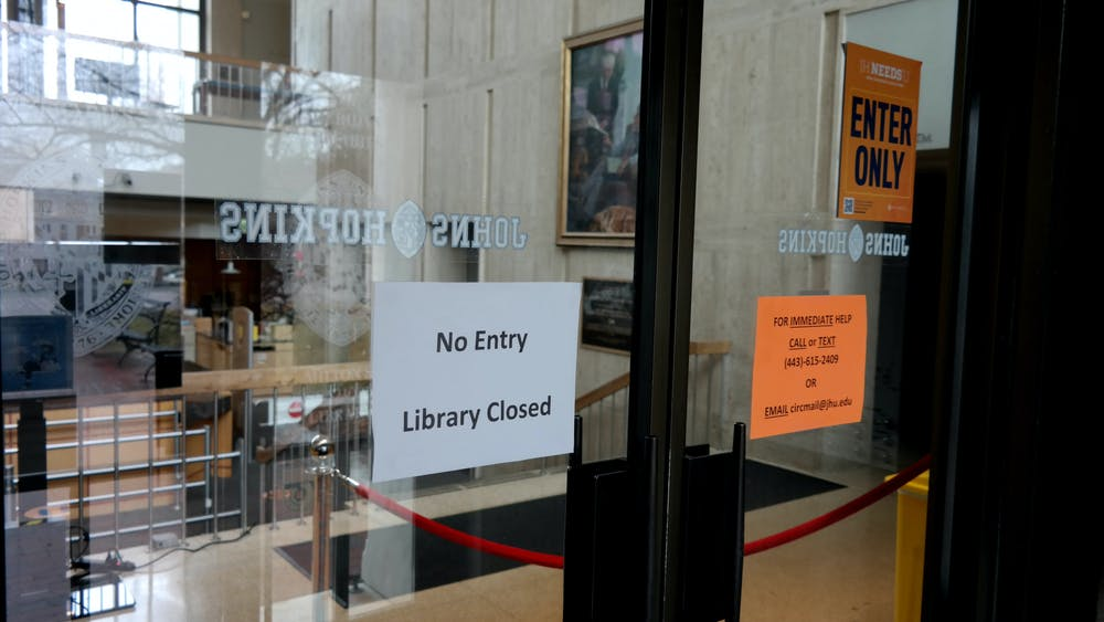COURTESY OF CHRIS H. PARK The Milton S. Eisenhower Library, which opened for the first time this year on Tuesday, Feb. 2, is now closed through Friday, Feb. 5.