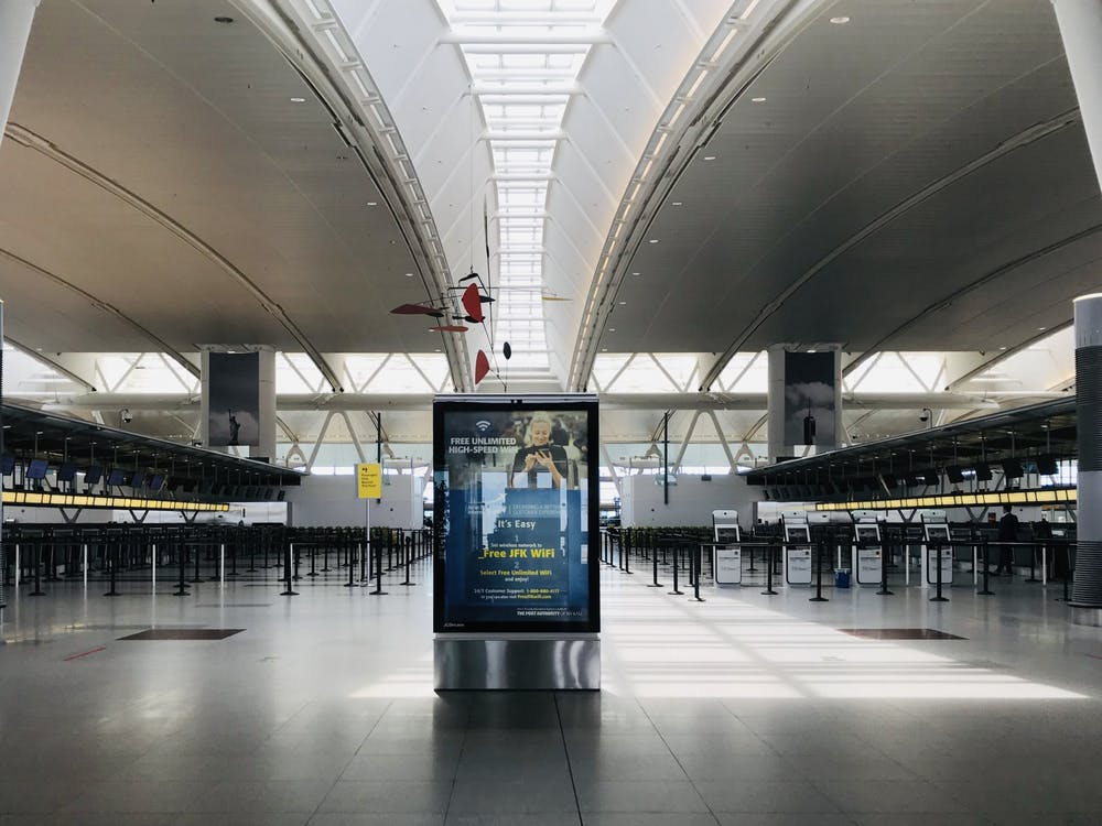 COURTESY OF MICHELLE LIMPE  An unusually deserted John F. Kennedy International Airport.