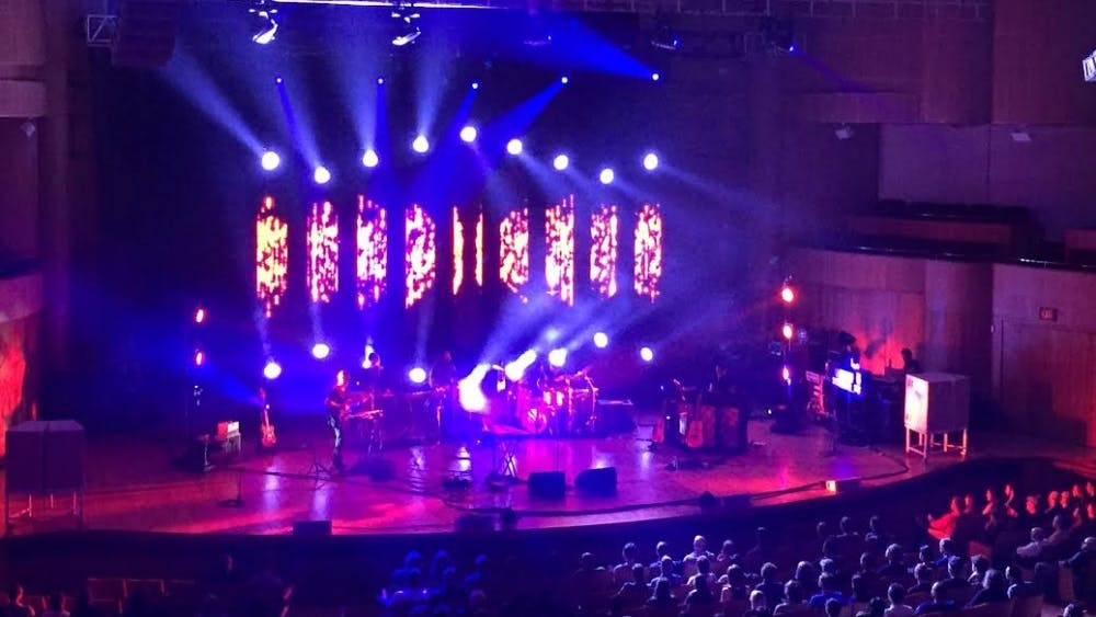Courtesy of Emily Herman Sufjan Stevens mesmerized the audience by filling the Meyerhoff Symphony Hall with flurries of light.