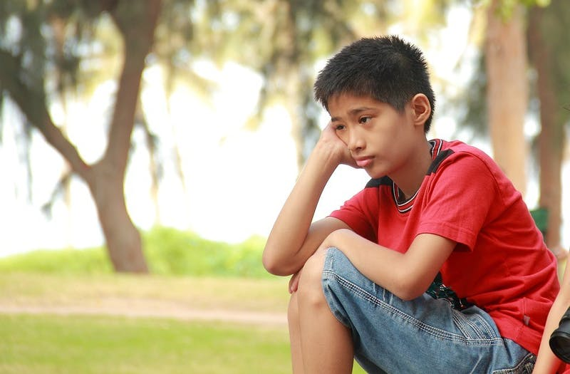 PUBLIC DOMAIN  Only a small number of depressed adolescents are treated by doctors.