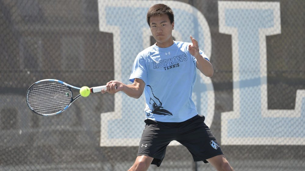hopkinssports.com Junior Austin Gu made it to the semifinals of the ITA Southeast Regional.