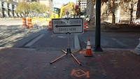 COURTESY OF ARIELLA SHUA Sidewalks are continuously rerouted due to ongoing construction on Saint Paul Street.
