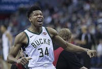 KEITH ALLISON/CC BY-SA 2.0 Giannis Antetokounmpo looks to lead his Bucks team to playoff upsets.