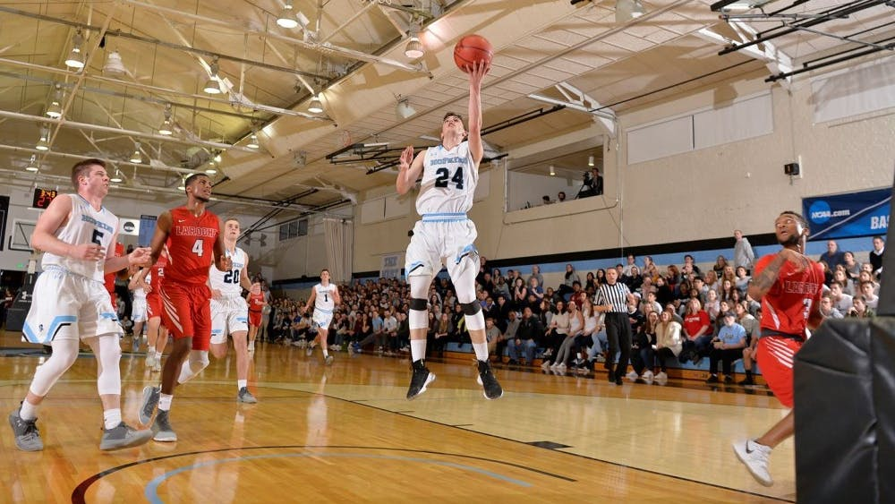 COURTESY OF HOPKINSSPORTS.COM  Senior guard Michael Gardner earns Player of the Week honors.