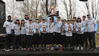 HOPKINSSPORTS.COM The women's cross-country team won their sixth national championship.