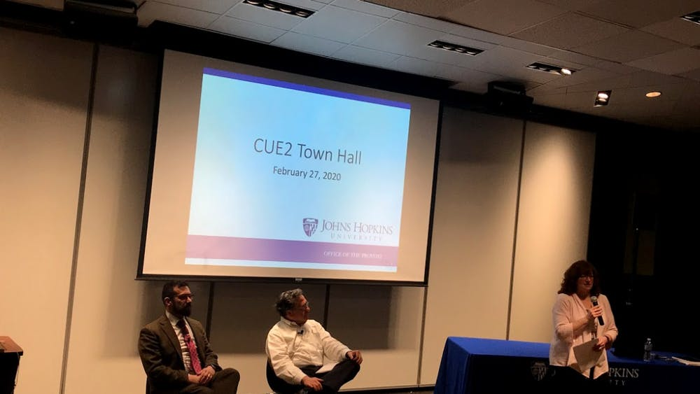 COURTESY OF MICHELLE LIMPE CUE2 held its first town hall discussion on Thursday, Feb. 27 in Levering Hall.