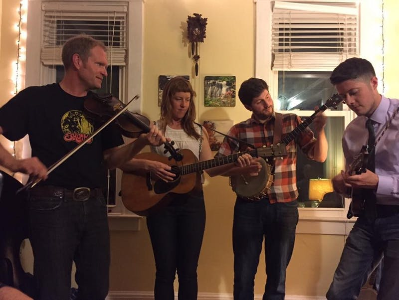 Courtesy of Veronica Reardon Foghorn Stringband plays with local Baltimore musicians Brad Kolodner and Patrick McAvinue.