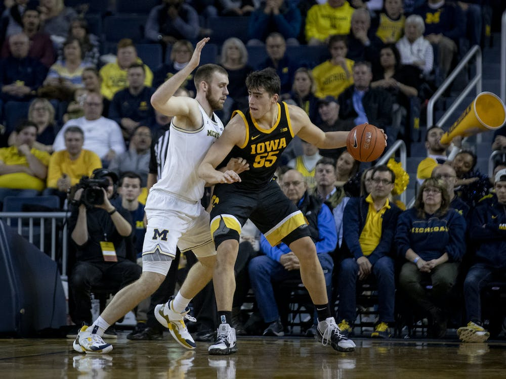 MARC GRÉGOR CAMPREDON/CC BY 2.0 Senior forward Luka Garza for the University of Iowa is considered to be the favorite for the 2021 Player of the Year award.