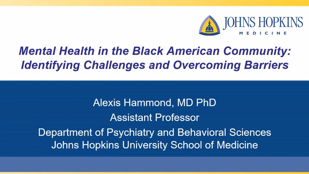 COURTESY OF ALEXIS HAMMOND COVID-19 has exacerbated existing mental health issues within the Black community.