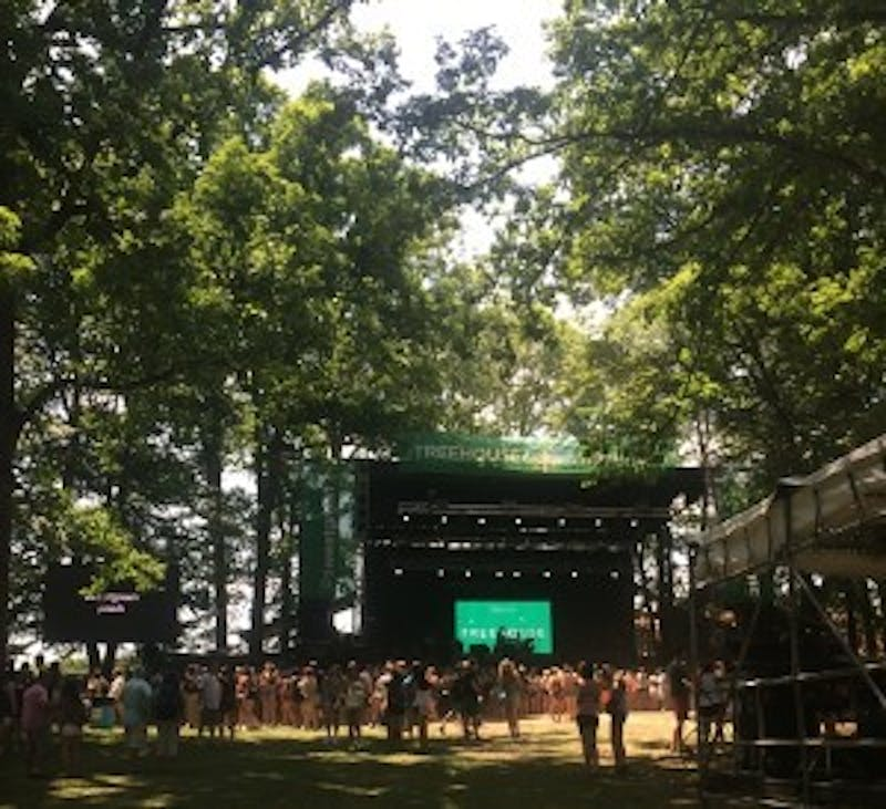 COURTESY OF RACHEL BIDERMAN Popular artists including Tove Lo, Banks and The Weeknd performed on the Treehouse stage.