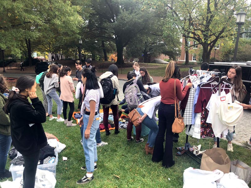 COURTESY OF  SHIP Students swapped gently used clothes and made reusable tote bags.