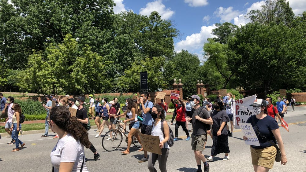 COURTESY OF RUDY MALCOM Monday's protest harkens back to the West Wednesdays held by the Sit-In during spring 2019.