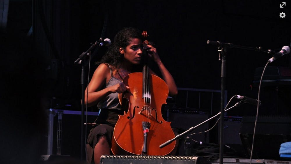 MCWICKLE/cc-by-2.0 Leyla McCalla during her time with the Carolina Chocolate Drops.