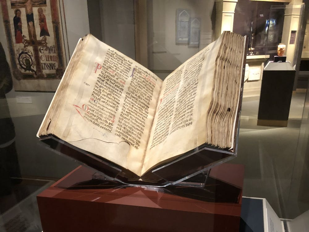 COURTESY OF DYLAN KWANG The Walters Art Museum recently opened an exhibition of the Missal read by St. Francis of Assisi, a seminal Christian text.