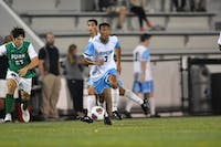 COURTESY OF HOPKINSSPORTS.COM  Junior forward Achim Younker leads the Jays offensively to defeat F&M 4-1.