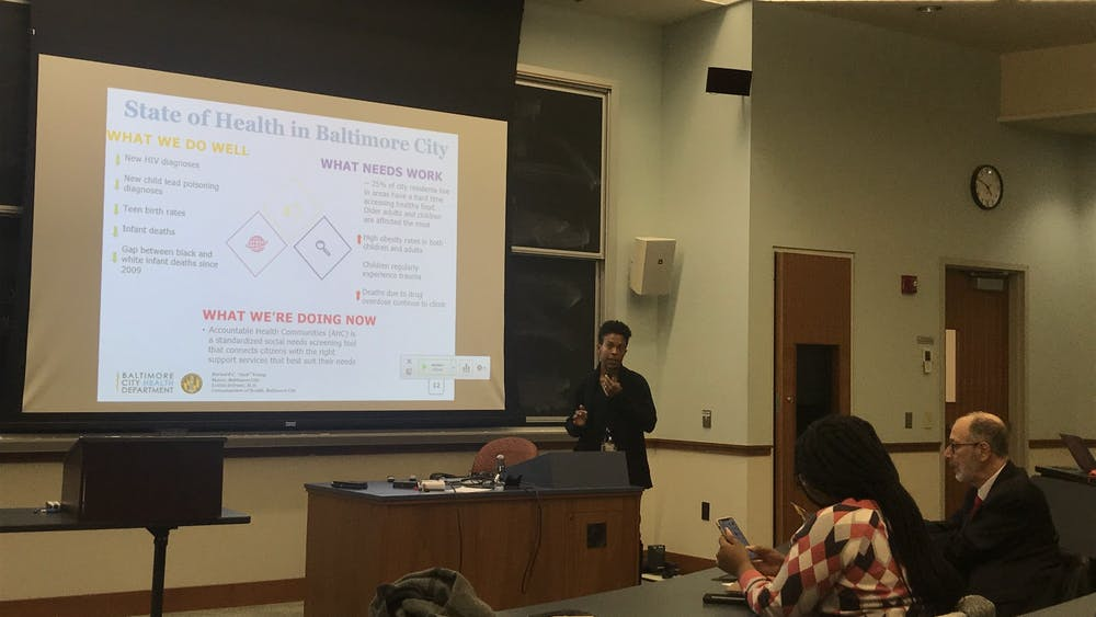 COURTESY OF MICHELLE LIMPE Dr. Dzirasa spoke about the importance of prioritizing mental health.