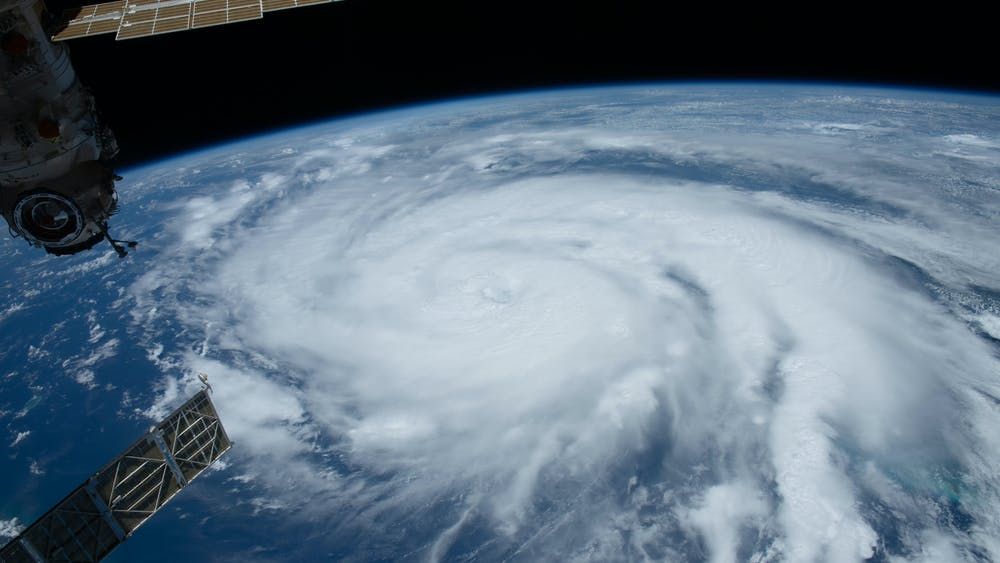 NASA/CC BY-SA 2.0 Hurricane Ida pictured as a Category 2 storm from the International Space Station as it orbited 263 miles above the Gulf of Mexico.