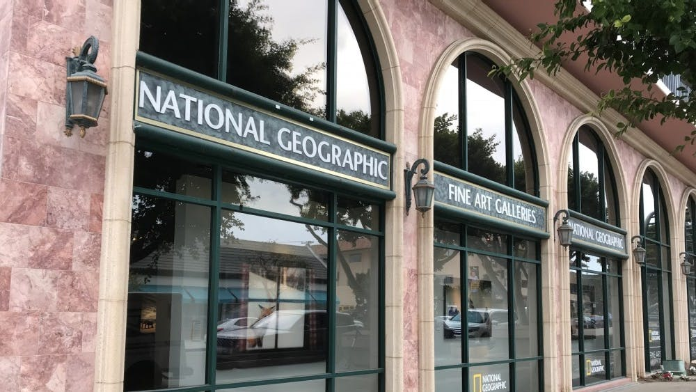 Courtesy of Emma Sun The National Geographic Gallery in San Diego shows their popular photos.