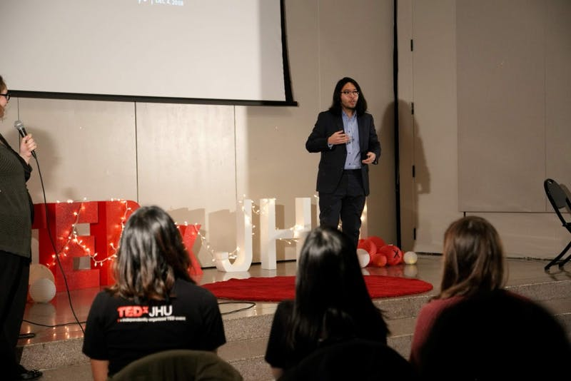 Students reflected on their undergraduate experience at TEDxJHU COURTESY OF ARPAN SAHOO