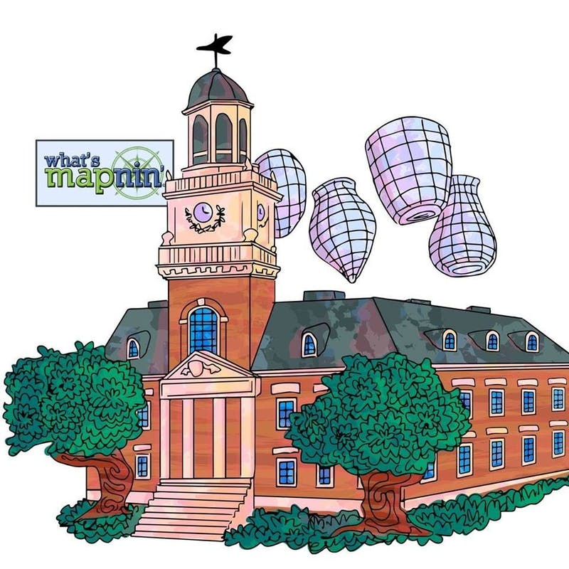 Although the new map is technically unaffiliated with the University, it is displayed on campus.