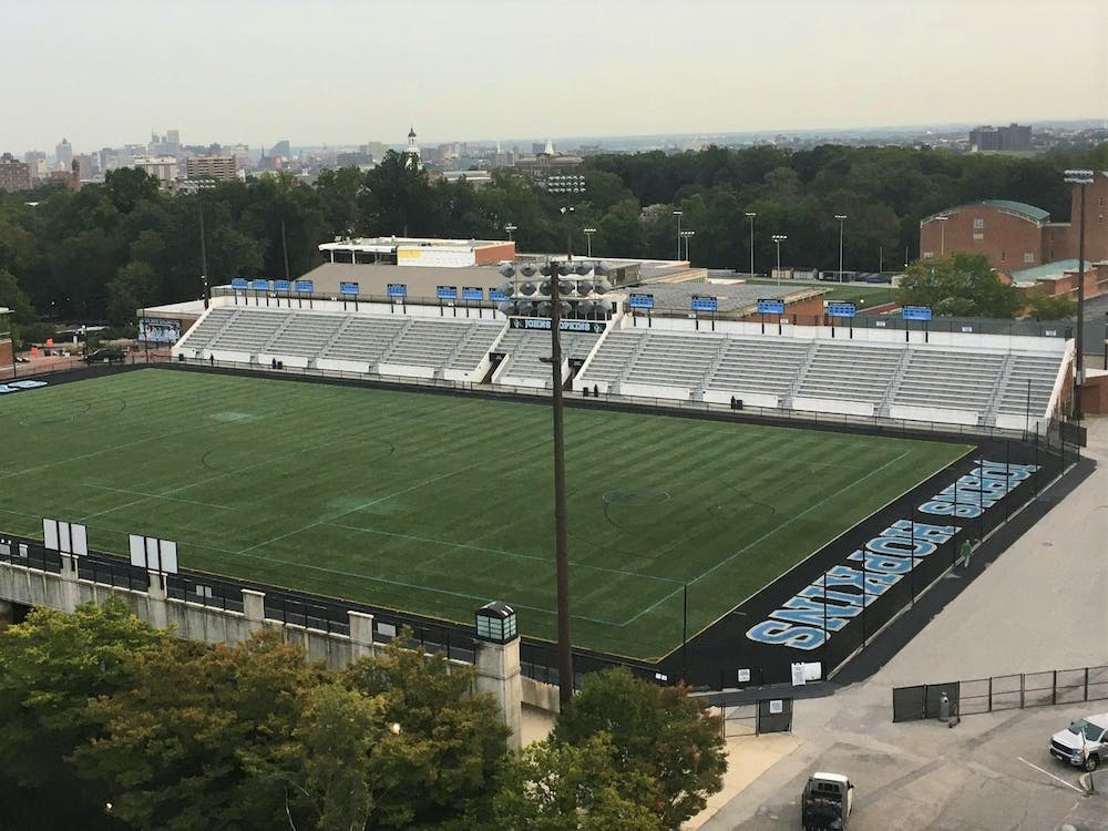 COURTESY OF ERIC LYNCH While Homewood Field will not be hosting NCAA games this fall, schools with more profitable teams will begin playing next month.