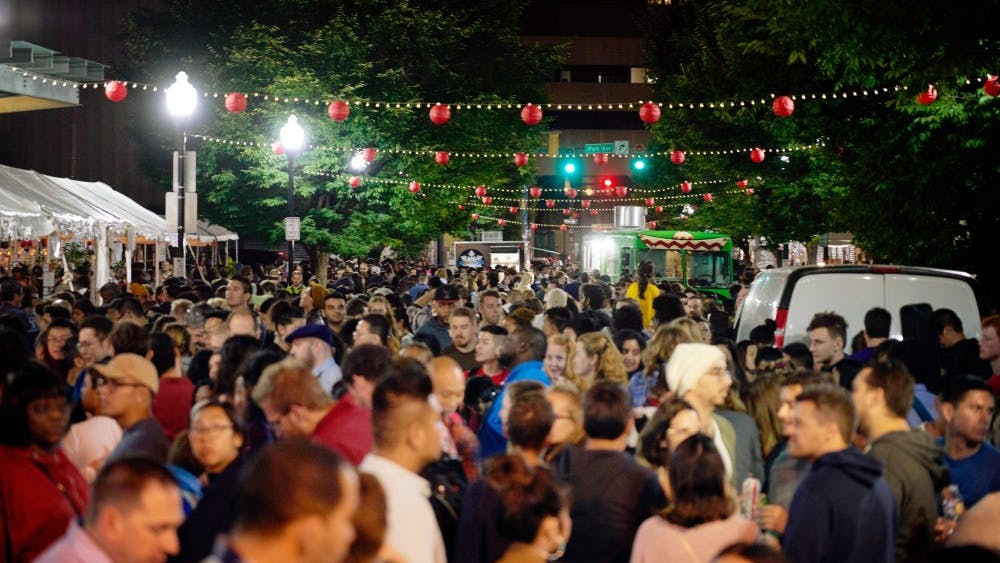 Courtesy Of Daniel AHN A large crowd gathered for the inaugural Charm City Night Market in Baltimore's Chinatown
