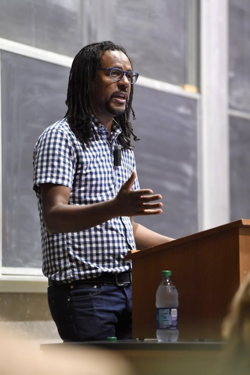 Courtesy of Homewood Photography Pulitzer-winning author Colson Whitehead at the reading series.