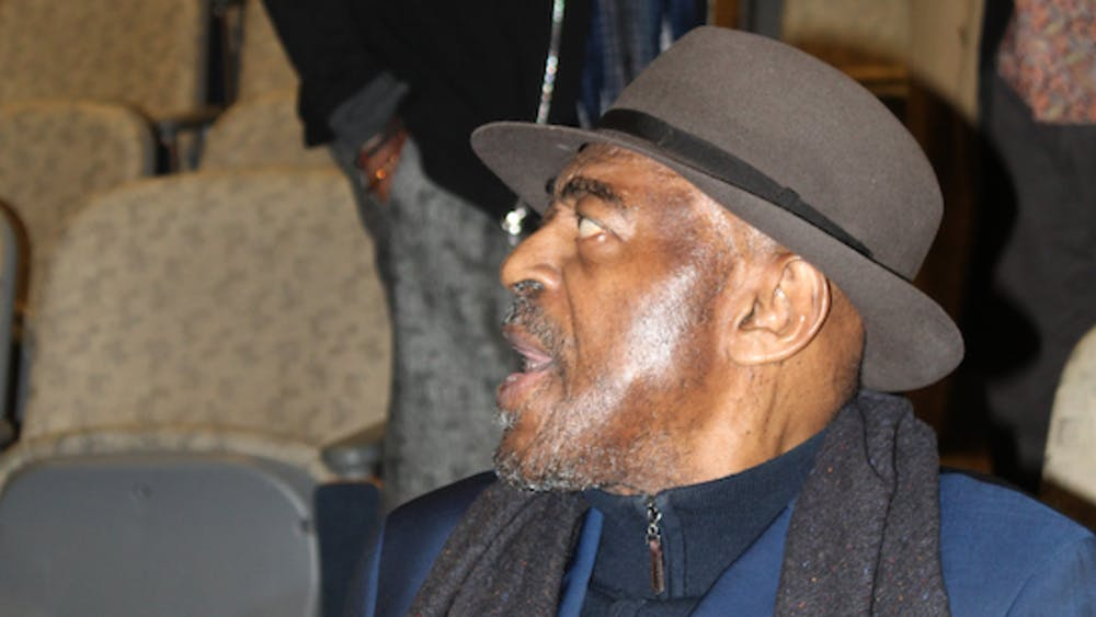 COURTESY OF PROFESSOR SCHILLING  Legendary avant-garde saxophonist Archie Shepp attended the symposium.