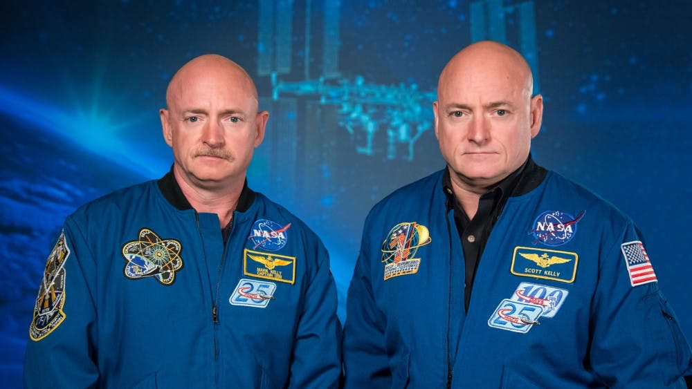 CC BY-NC 2.0 Mark Kelly (left) and his twin brother Scott Kelly (right) who served as subjects in the NASA twin study.