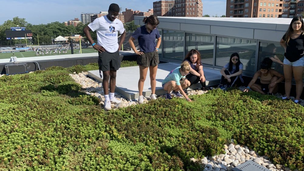 COURTESY OF PREETHI KALIAPPAN Hopkins students engaged in sustainability activities before the school year began.