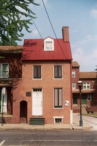 MITCH LECLAIR/CC BY 2.0 The Poe House is tiny and unassuming, but houses a fascinating museum.