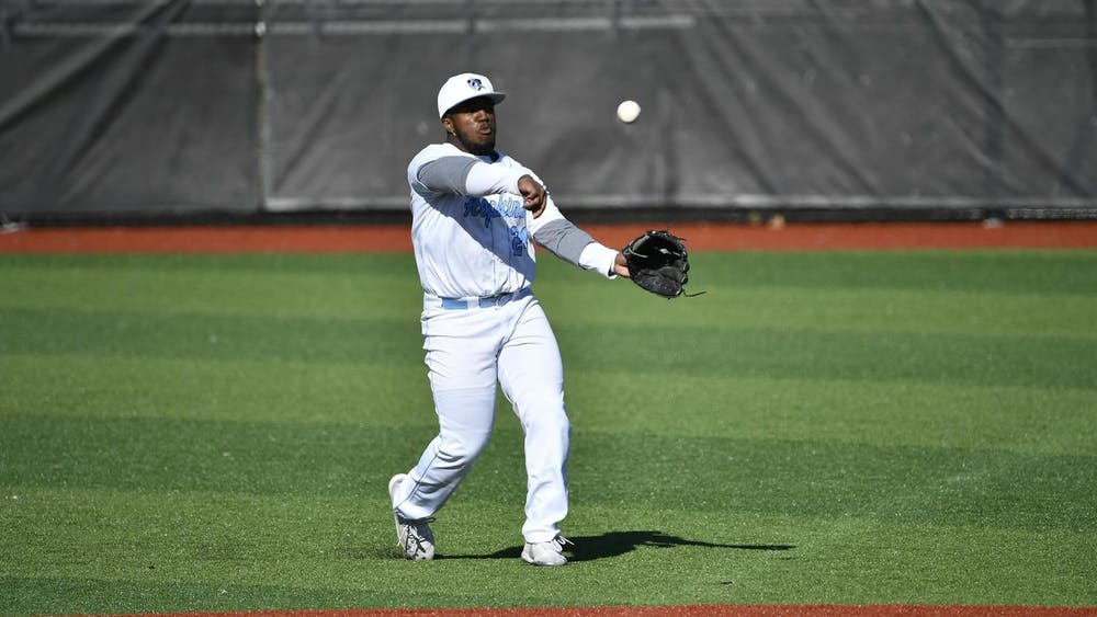 HOPKINSSPORTS.COM Matthew Ritchie scored a career-high six RBIs against Messiah College.