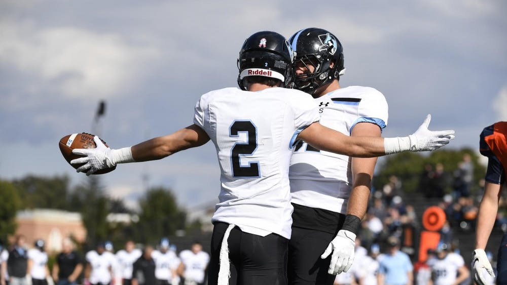HOPKINSSPORTS.COM The Blue Jays' offense could not be stopped Saturday against Juniata.