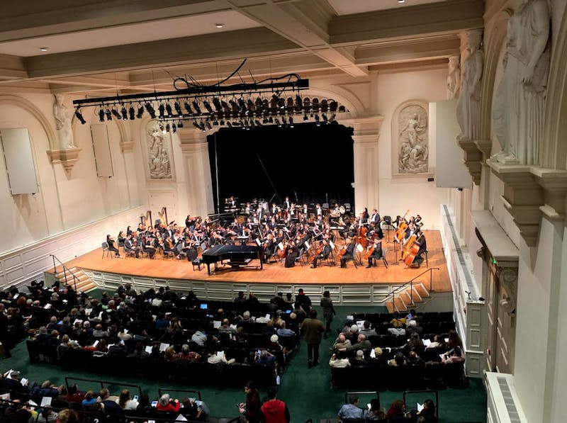 COURTESY OF YOOSOO YEO The Peabody Symphony Orchestra performed at the Friedberg Concert Hall.