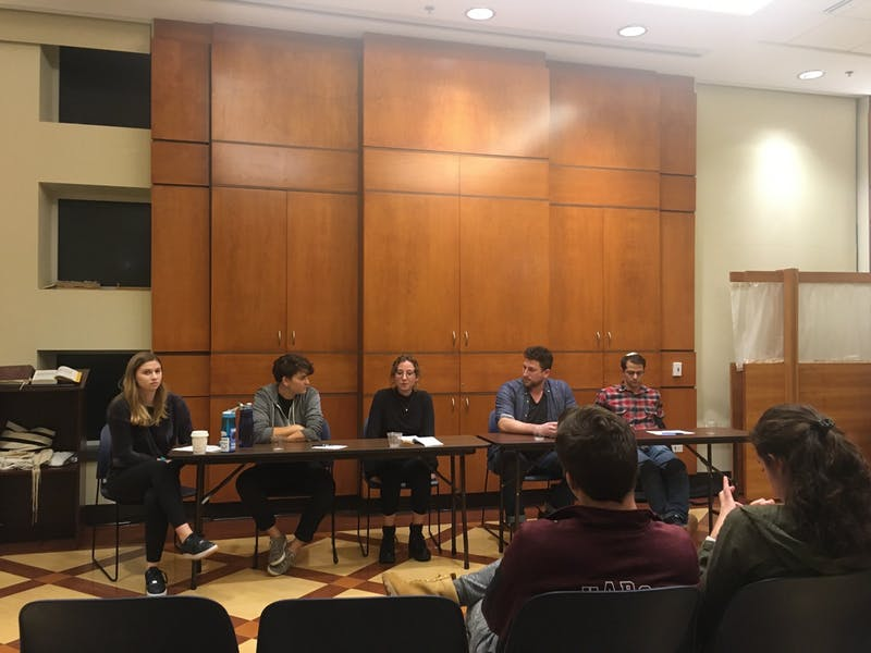 COURTESY OF KAREN WANG J Street U brought four members of Breaking the Silence to campus.