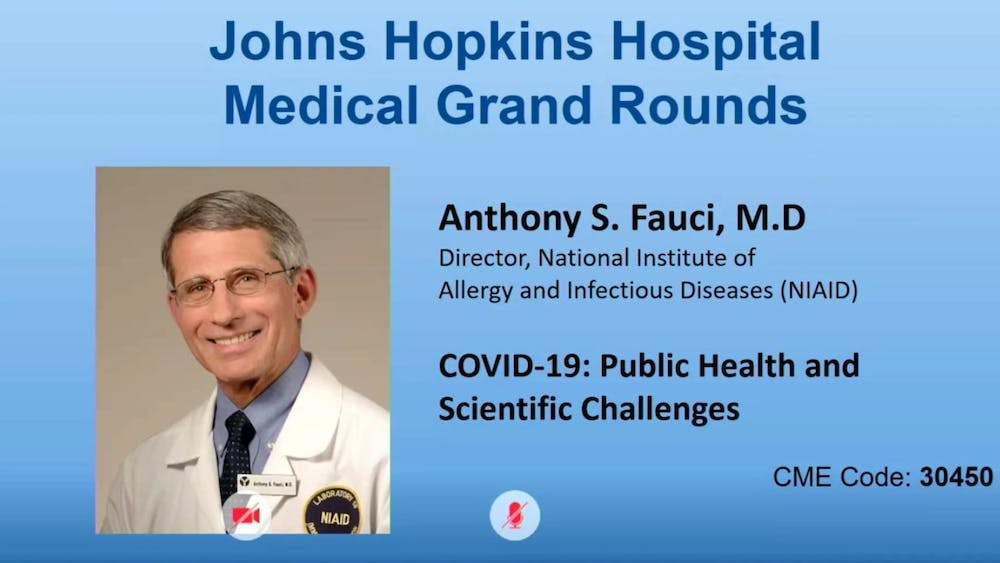 COURTESY OF JOHNS HOPKINS Fauci believes that the development of mRNA vaccines for COVID-19 will embolden  pharmaceutical companies to create avant-garde treatments for diseases like AIDS.