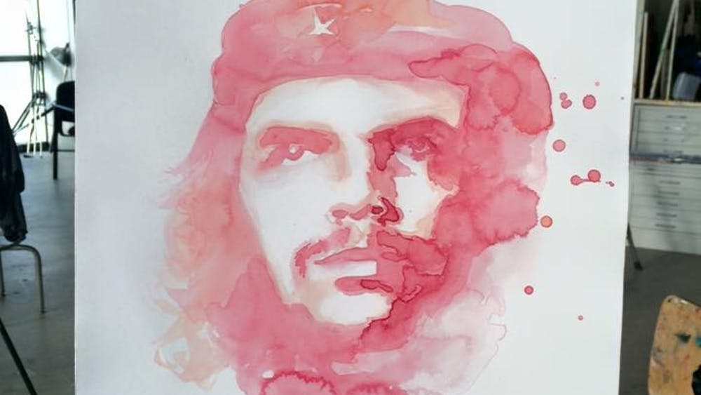 COURTESY OF RUTHE HUANG Ruthe Huang's painting of Che Guevara was done in watercolor.