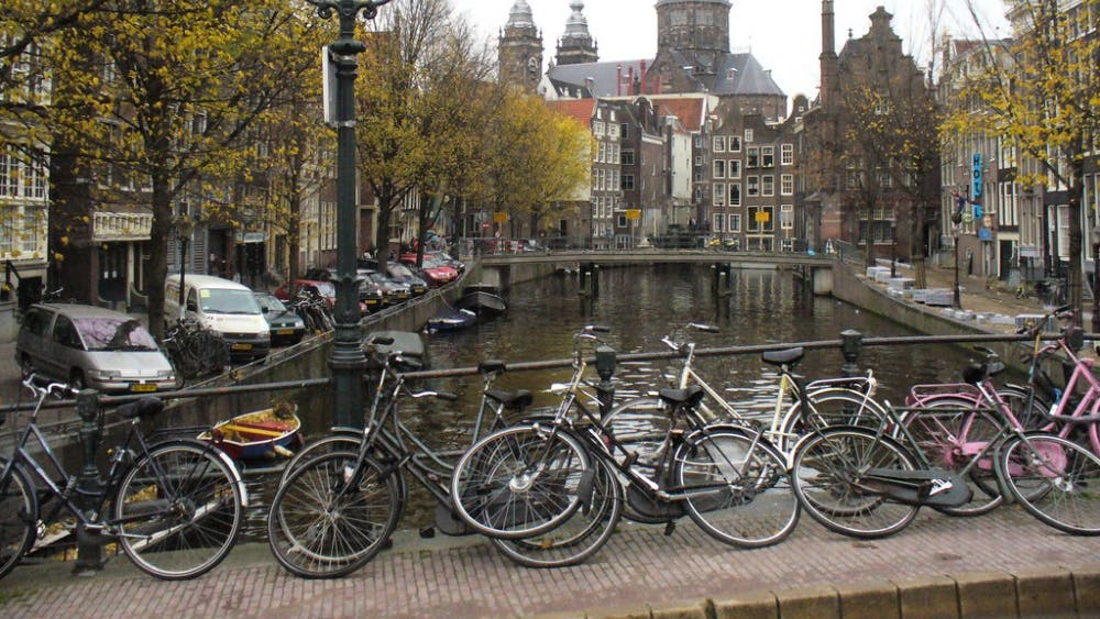 bWlrZQ==/ CC BY 2.0  Amsterdam has an estimated 881,000 bikes, more than its population.