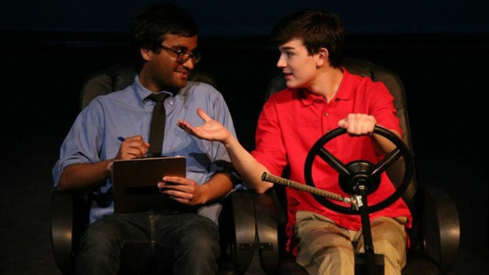 """RUN BANLENGCHIT/PHOTOGRAPHY STAFF Witness Theater performs student-written plays like last year's """"Drive"""" by Renee Scavone."""