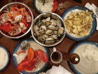 COURTESY OF JESSE WU Seafood local to New England played a vital role in shaping Wu's childhood.