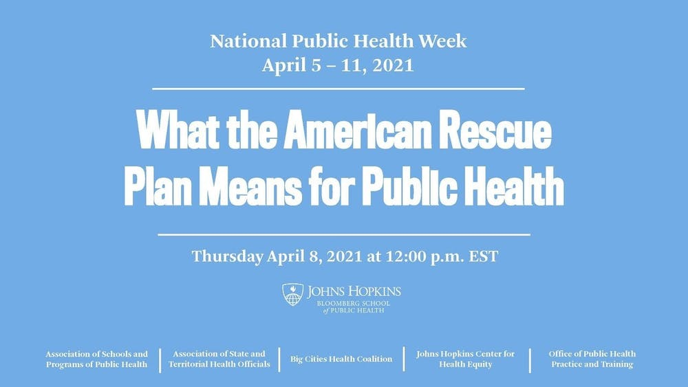 COURTESY OF BLOOMBERG SCHOOL OF PUBLIC HEALTH Public health experts explained the scope of the plan and its potential impacts.